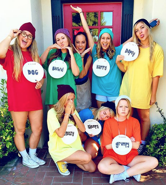 10 disney group halloween costumes disney state of mind tights ankle booties and beanies beards optional using pieces you probably already have in your closet making this an easy diy costume solutioingenieria